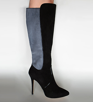 Black Gray Boots Lorena