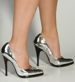 Pumps Mirror/Negro Amedea