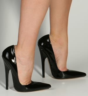 ItalianHeels.com: Pumps: Filippa :  high heel black leather pump