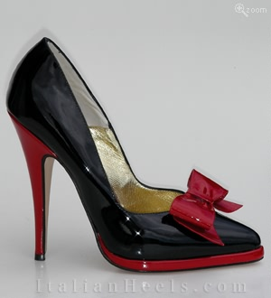Black Red Pumps Caterina