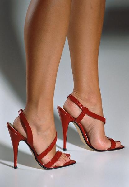 red patent sandals heels